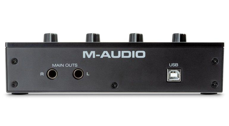 M-Audio M-Track Duo Rückseite