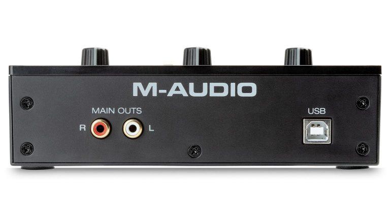 M-Audio M-Track Solo Rückseite