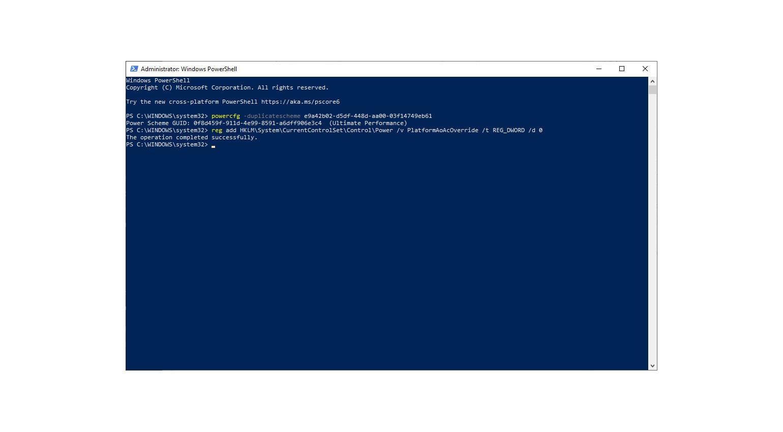 Windows 10 Recording Optimierung Power Shell Registry