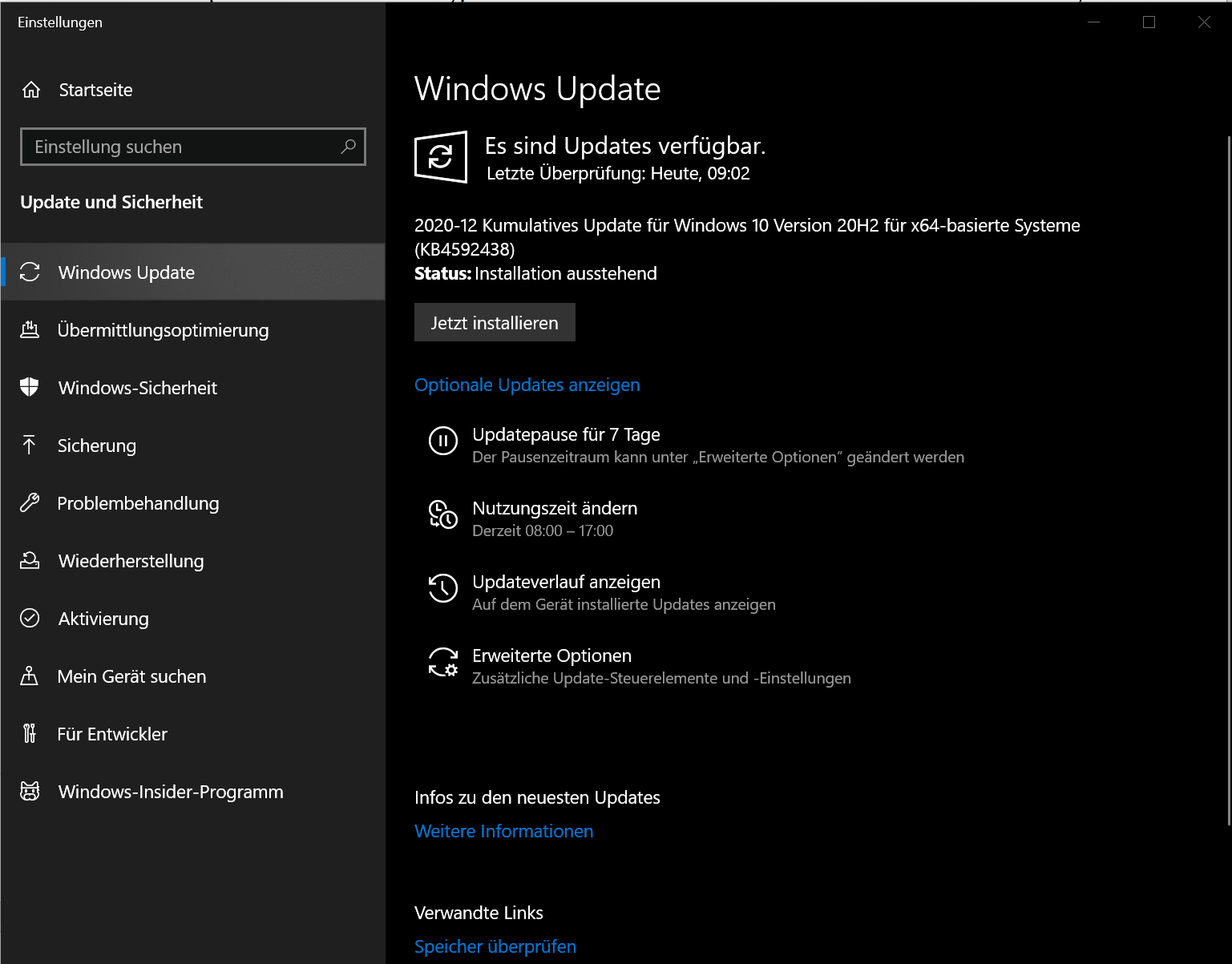 Windows 10 Recording Optimierung Updates