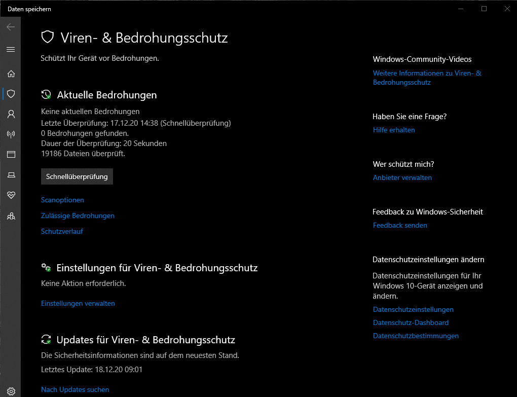 Windows 10 Recording Optimierung Virus