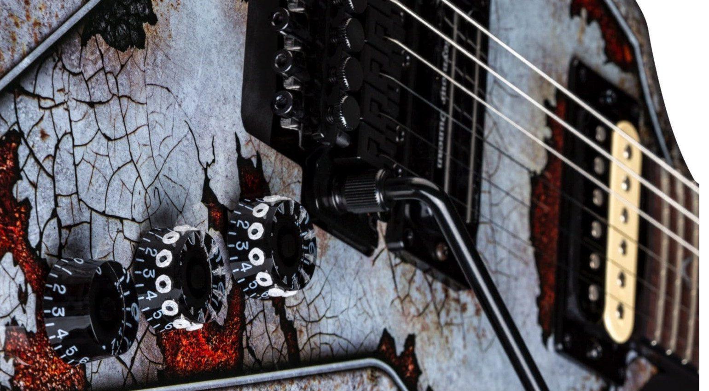 Dean Dimebag Razorblade Rust Gitarre Close