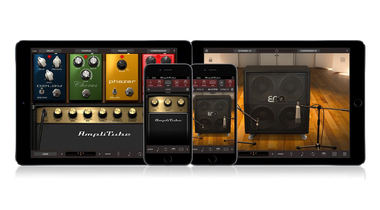 IK Multimedia Amplitube iOS GUI