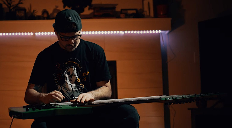 Jared Dines Mountain Dew 20-saiter E-gitarre 2