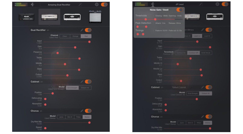 Mercuriall Amp one iOS GUI