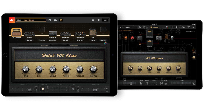 Positive Grid BIAS Amp Mobile iOS GUI