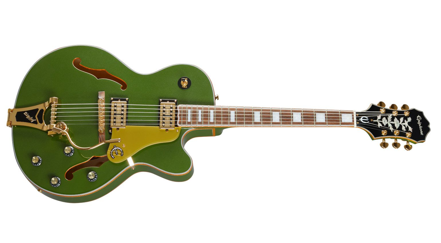Epiphone Emperor Swingster Forest Green Metallic Semi Hollowbody Front