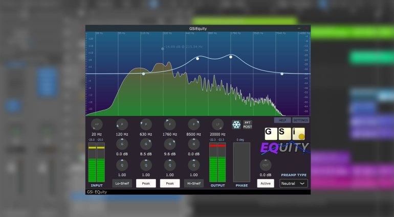 Genuine Soundware EQuity: parametrisches Equalizer Plug-in mit IR Preamp