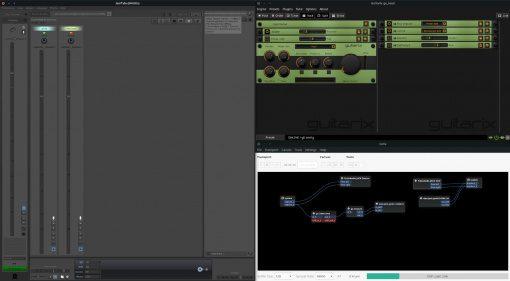 Jamtaba 2 Guitarix JACK Tiled Desktop GUI Linux