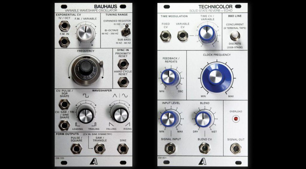 la circuits Bauhaus VCO und Technocolor Reverb