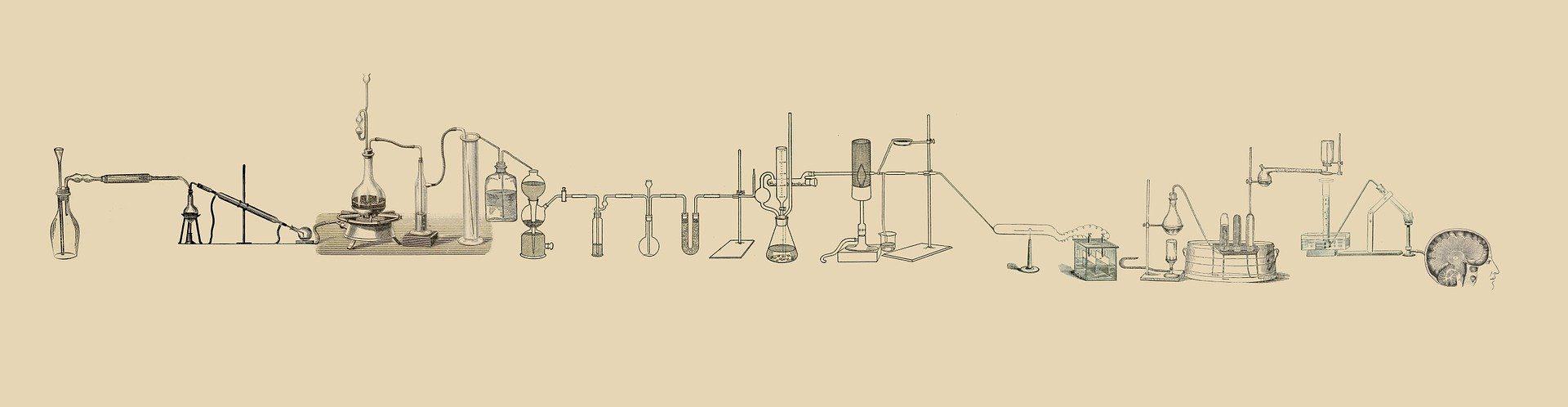 Labor Versuch Geraete Reagenzgrlaeser Silber