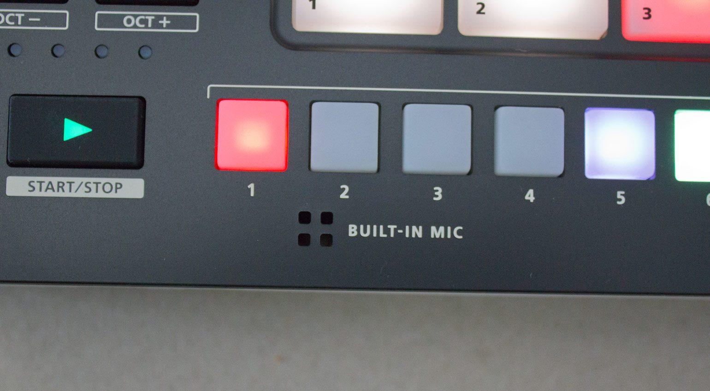 Eingebautes Mikrofon am Roland Verselab MV-1