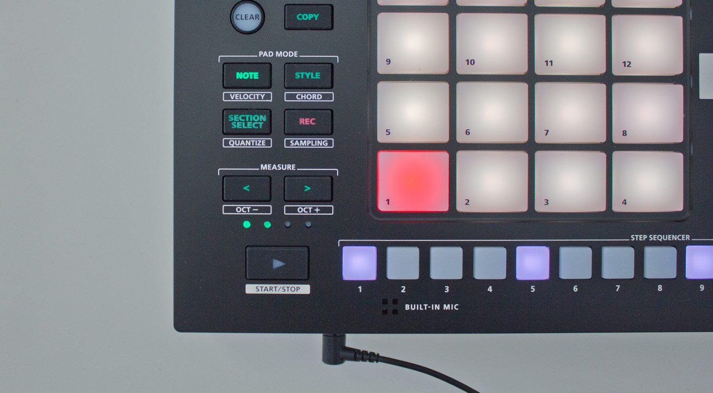 Roland Verselab MV-1 Einstellungen