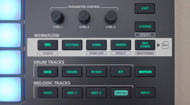 Workflow-Sektion Roland Verselab MV-1
