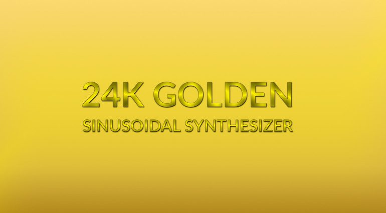 24K Golden Sinusoidal Synthesizer: Max for Live Device für 10000 Euro