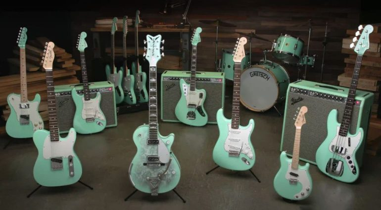 Fender Custom Shop Surf Green with Envy Collection