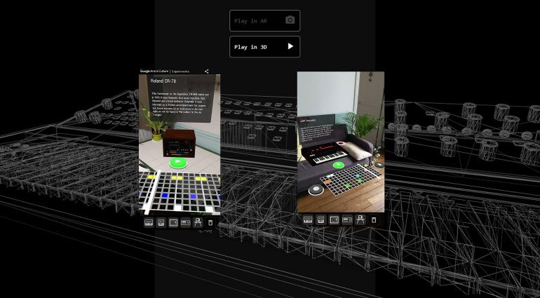 Google AR Synth: legendäre Synthesizer in Augmented Reality testen