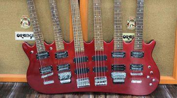 Hutchins Guitars The Beast 6 Hals Gitarre Bass
