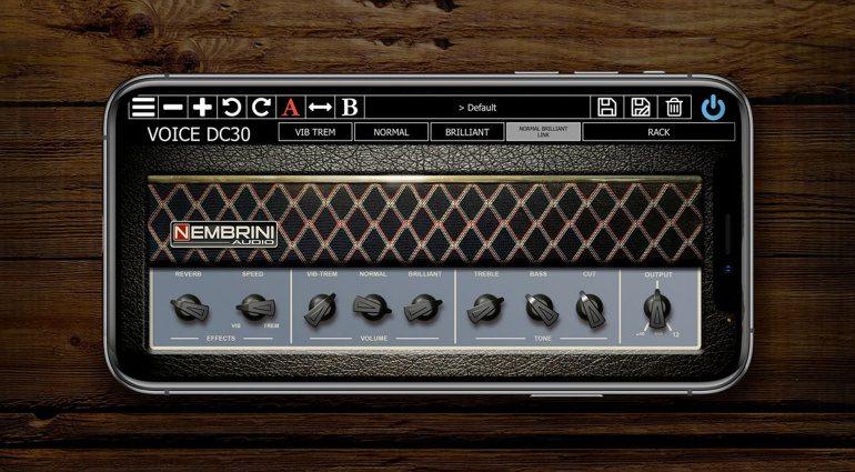 Nembrini Audio Voice DC30: Vox AC30 Top Boost Reverb Amp Emulation als iOS App