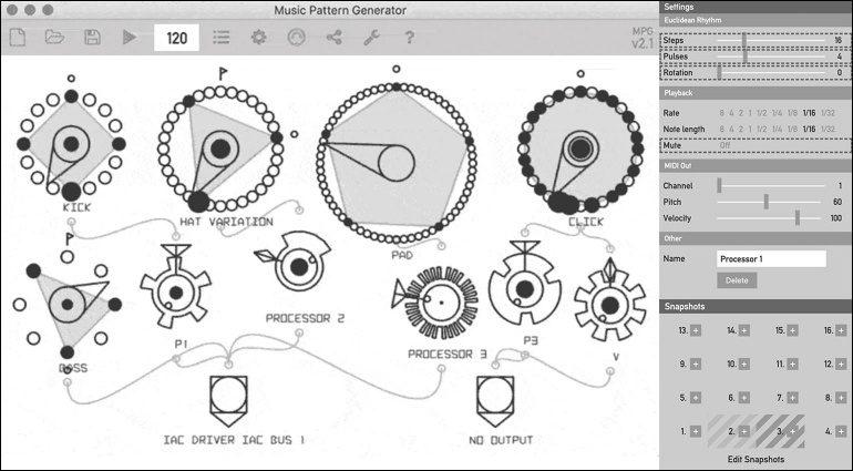 Kostenlos: Vielseitiger Music Pattern Generator für macOS, Windows und Linux