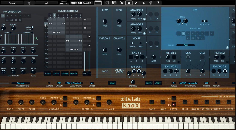 XILS-Lab KaoX GUI im Ausschnitt