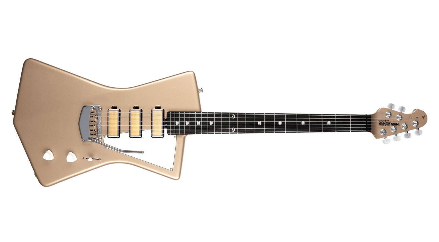 Ernie Ball Music Man St. Vincent Goldie Cashmere Front