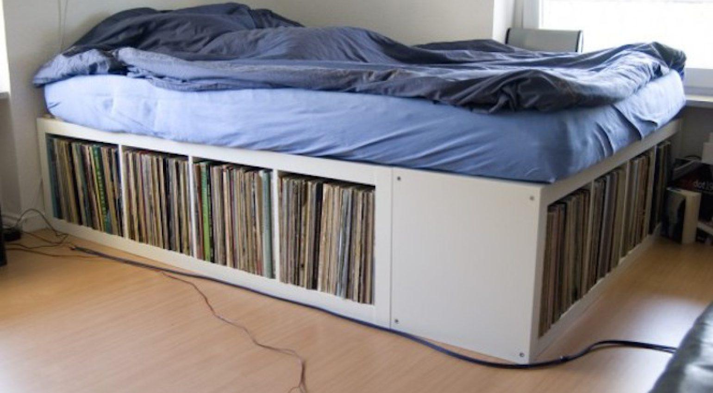 Ikea Expedit Vinylregal Bett