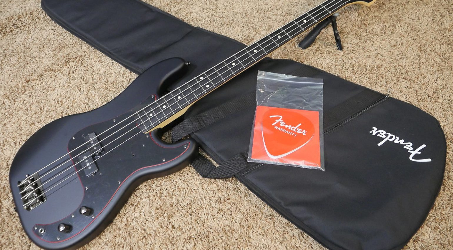 Fender Japan Limited Noir Special Edition Precision Bass Trogly