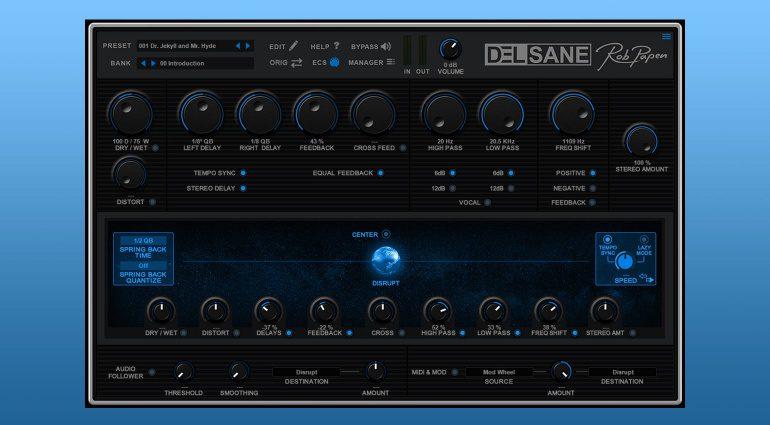 Rob Papen DelSane: Das Tape Delay mit dem kreativen Twist