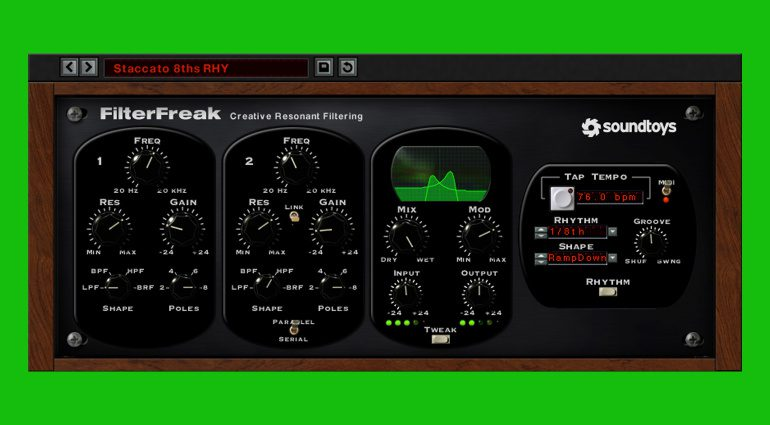 Deal: Soundtoys Filter Freak für kurze Zeit nur 29 Euro!