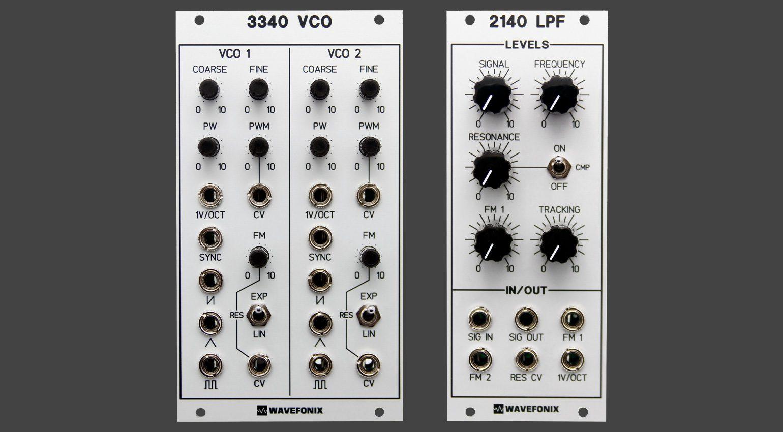 Wavefonix 3340 Dual VCO und 2140 LPF