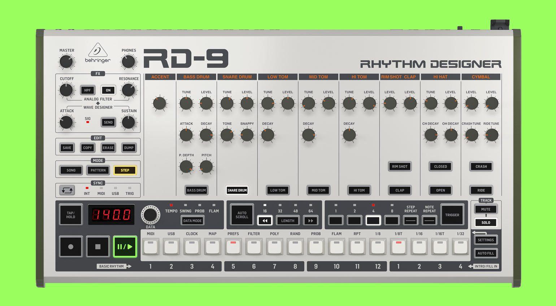 Behringer RD 9 Klon der TR 9 ist ab sofort erhältlich ...