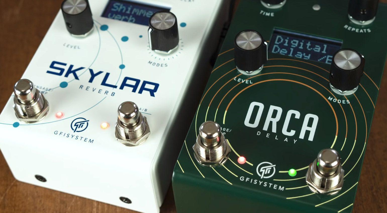 GFI System Skylar Reverb Orca Delay Effekt Pedal FX
