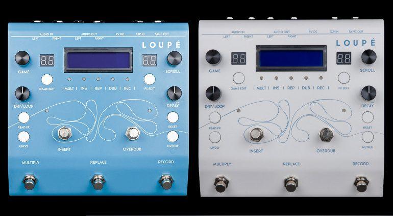Glou Glou Loupe Looper Effekt Pedal Front White Blue