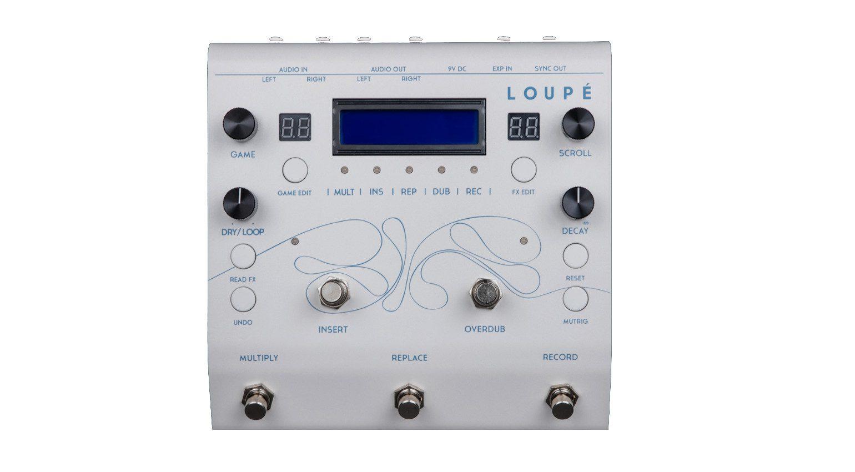 Glou Glou Loupe Looper Effekt Pedal Front White