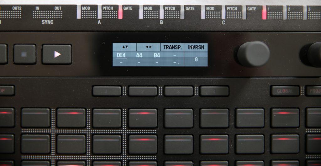 Korg SQ64 Display