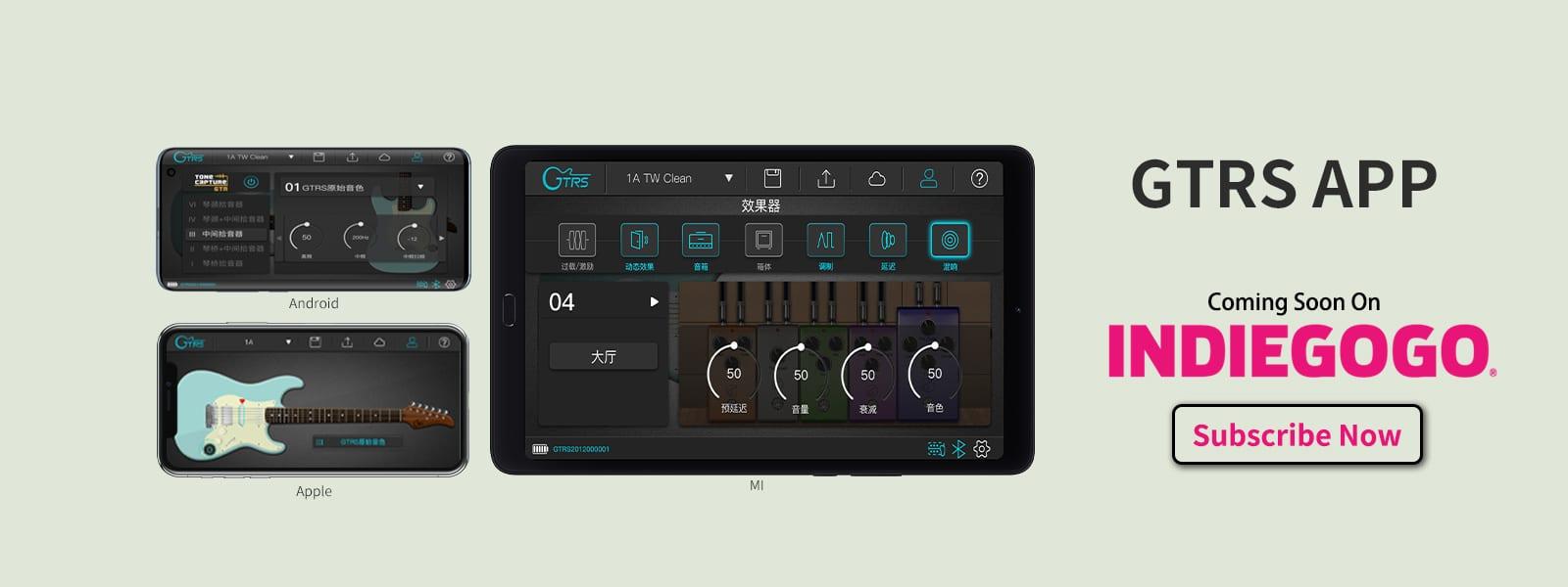Mooer GTRS Intelligent Guitars iOS Android App