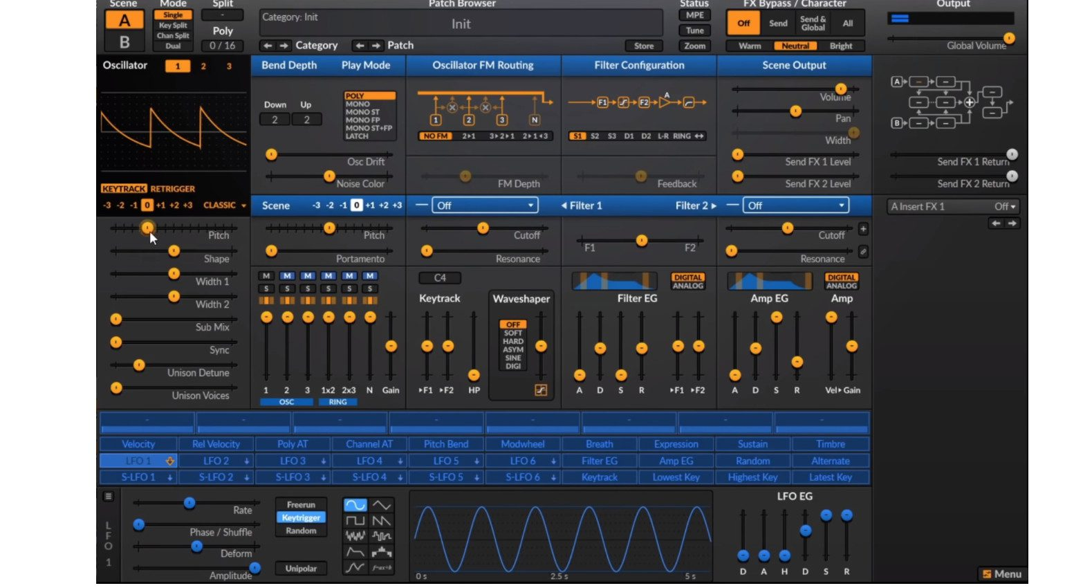 Surge Synthesizer Linux GUI