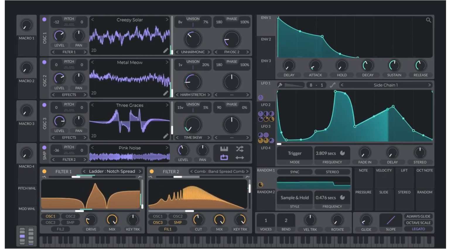 Vital Synthesizer Linux GUI