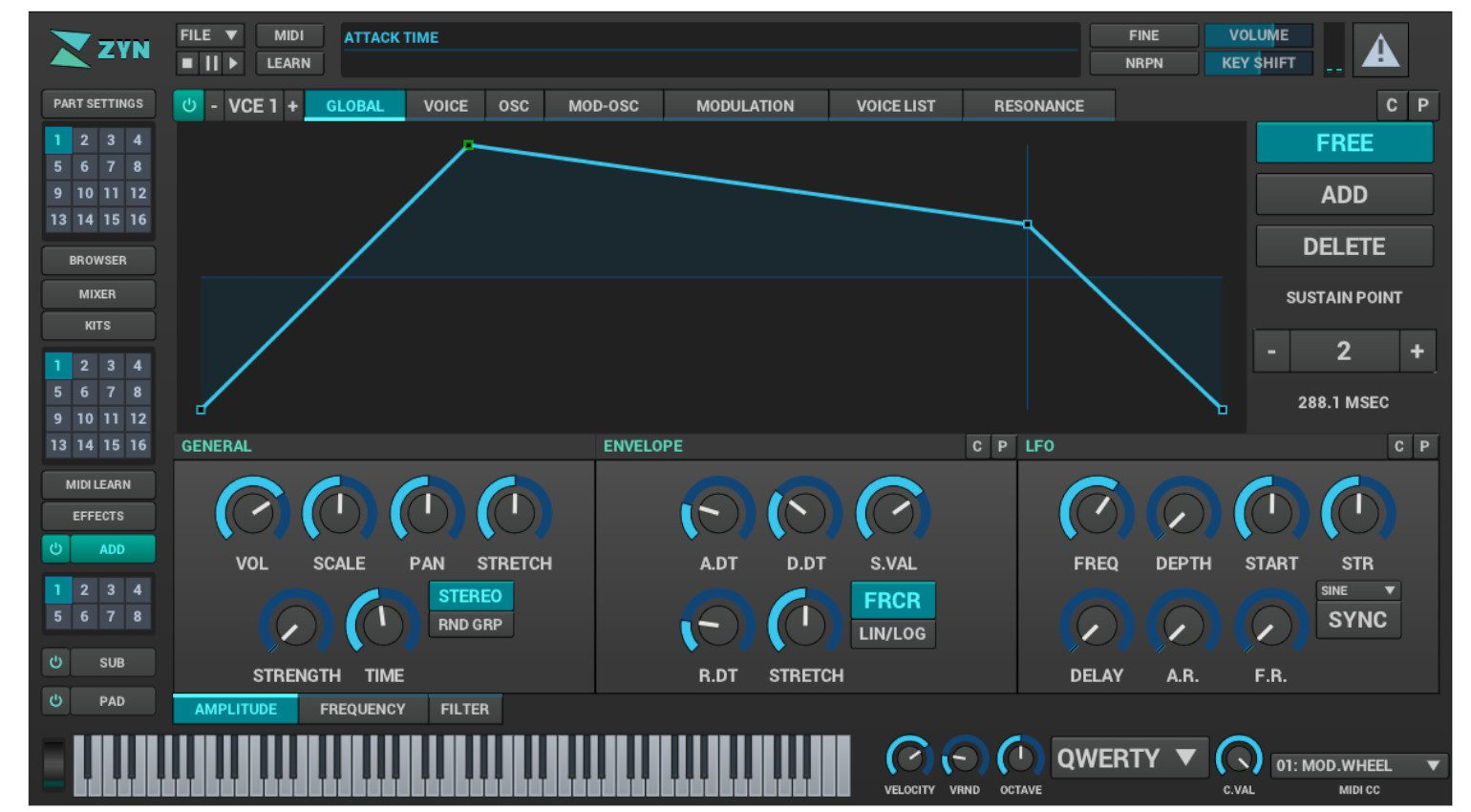 ZynFusion Synthesizer Linux GUI