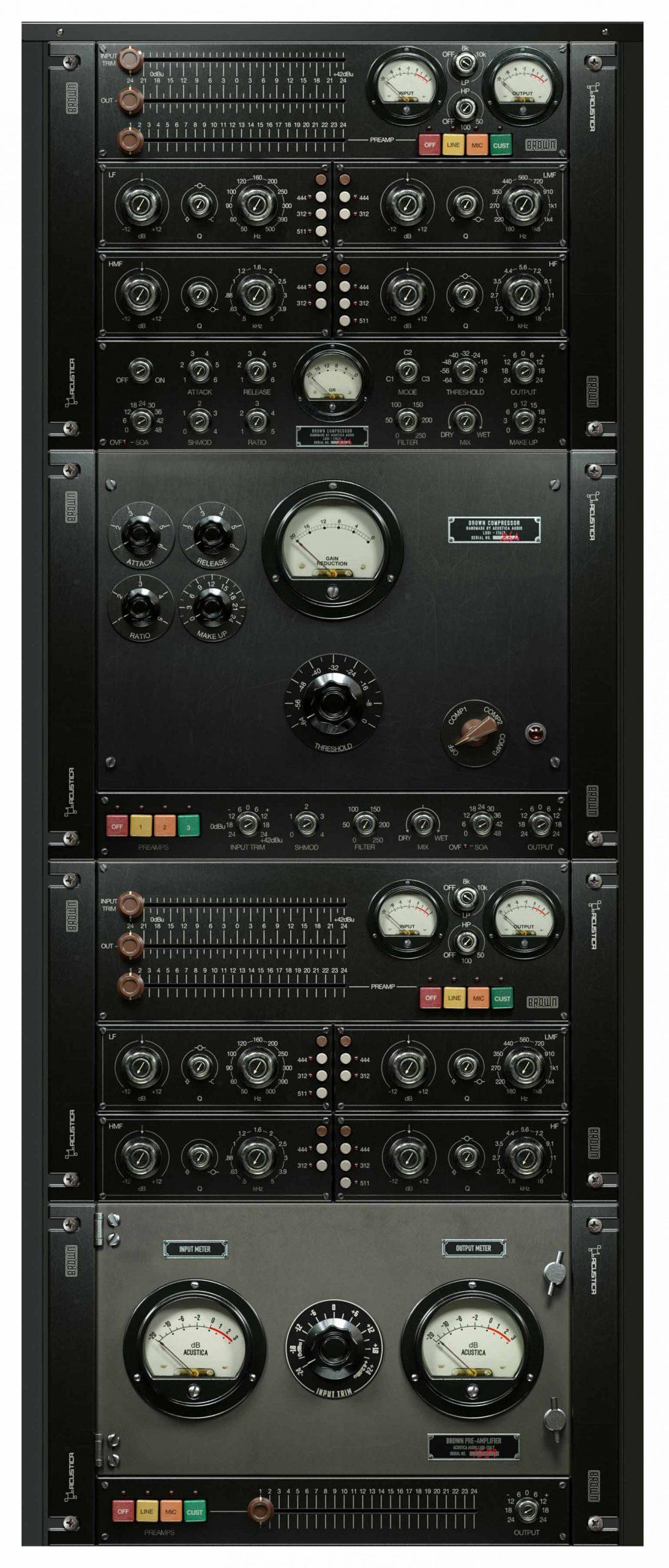Acustica Audio Brown Channelstrip