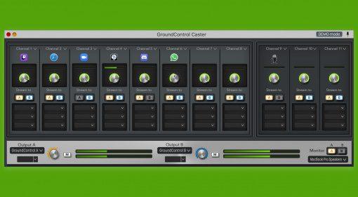 Ginger Audio GroundControl Caster für macOS: Audio-Mixing-Router für Streamer