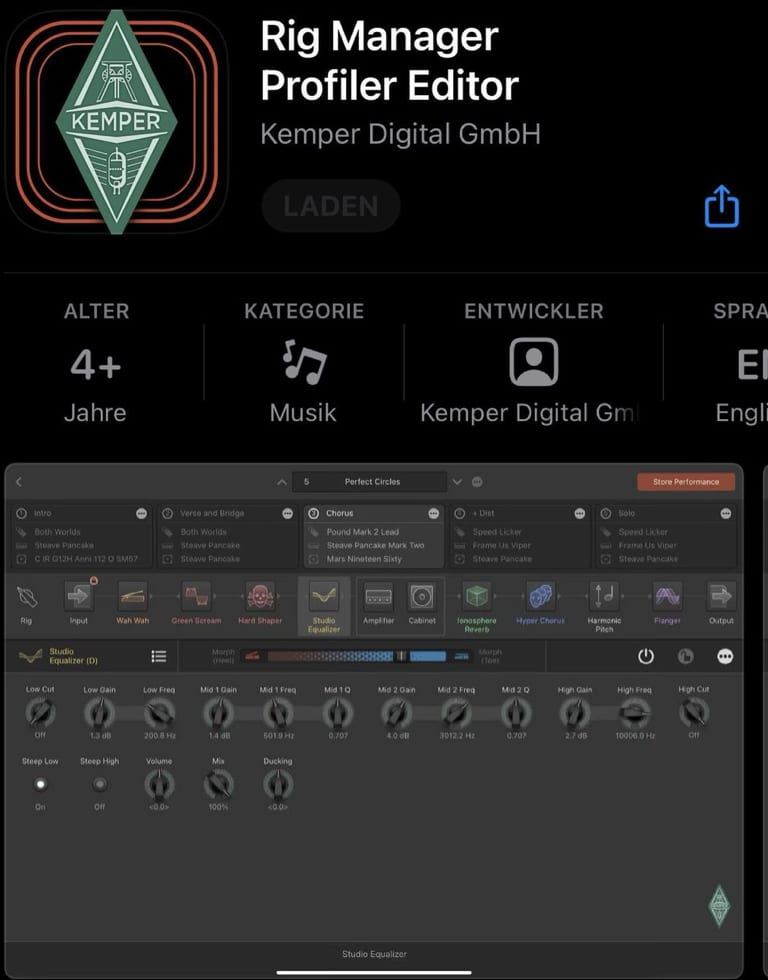 Kemper Profiler Rig Editor App Store