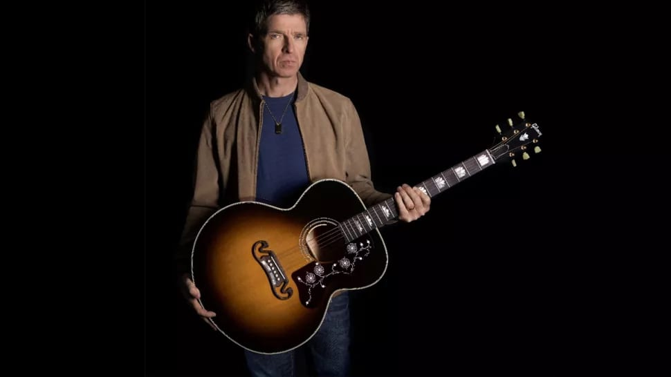 Noel-Gallagher-with-his-Gibson-J-150-limited-edition