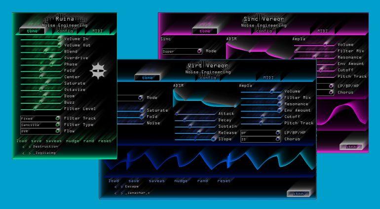 Neue Plug-ins von Noise Engineering: Sinc Vereor, Virt Vereor und Ruina