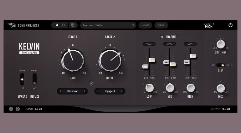 Tone Projects Kelvin: Dual Stage Saturator mit tonaler Kontrolle