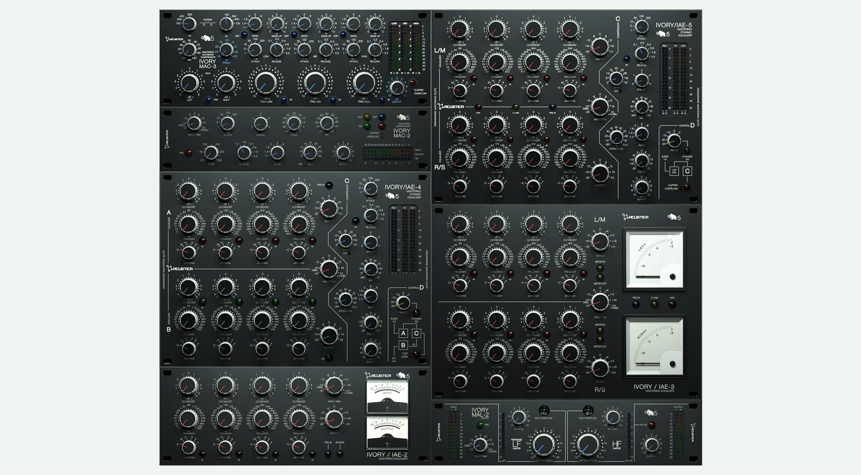 Acustica Audio Ivory5 – Collage der Plug-in-Suite
