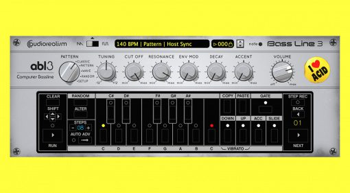 Audiorealism Bass Line 3: Großes kostenloses Update für das 303-Plug-in