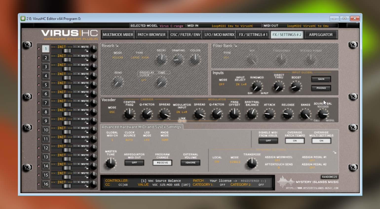 DSP56300 Emulator mit VirusHC Editor