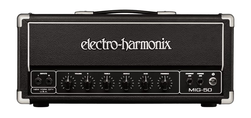 Electro-Harmonix EHX MIG-50 Vollröhre Topteil Bassman 1